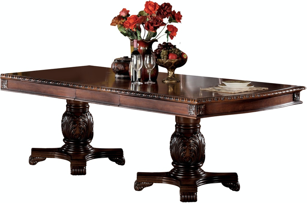 Acme Furniture Dining Room Chateau De Ville Dining Table With Double Pedestal Fulton Stores