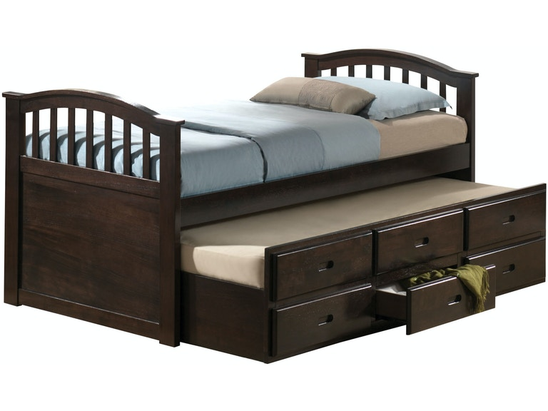 Acme Furniture Youth San Marino Twin Captain Bed Trundle