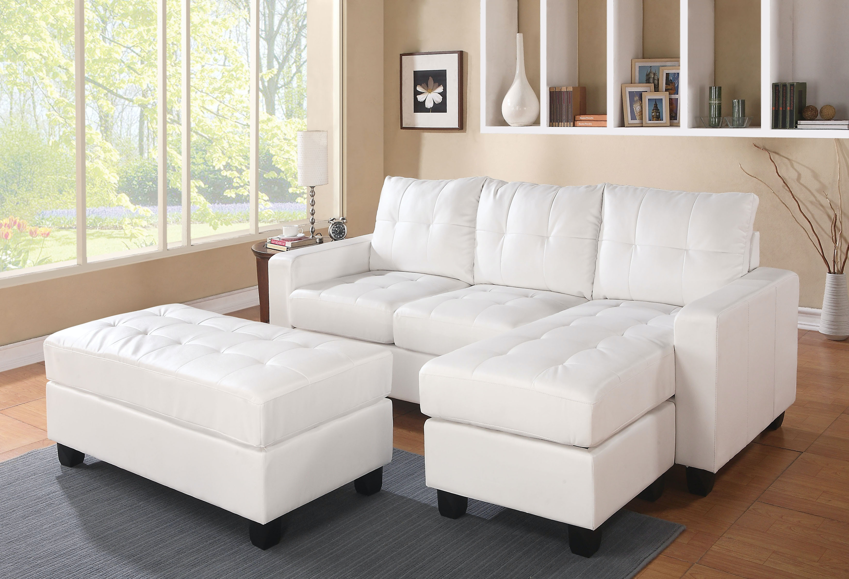 Acme Furniture Lyssa Sectional Sofa With Ottoman 51210