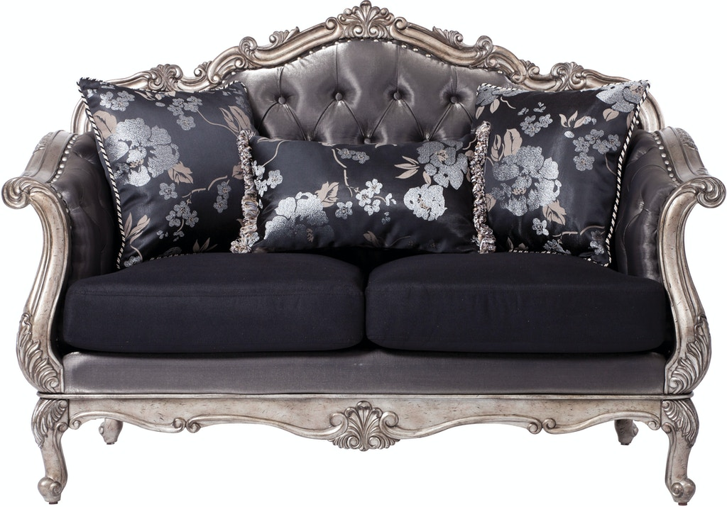 Acme Furniture Living Room Chantelle Loveseat With 3