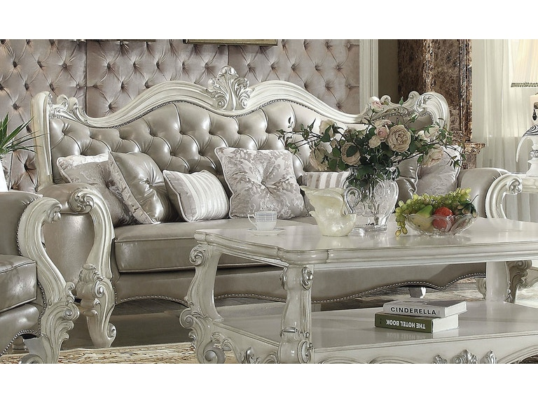 Acme Furniture Living Room Versailles Sofa With 12 Pillows 12A