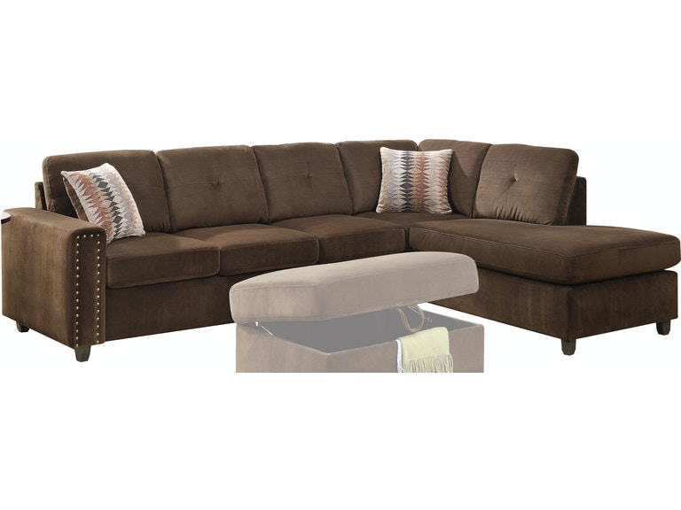 Belville Sectional Sofa With Pillows