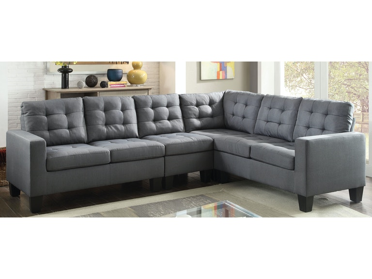Acme Furniture Living Room Earsom Sectional Sofa 52760 At Aaron S Fine