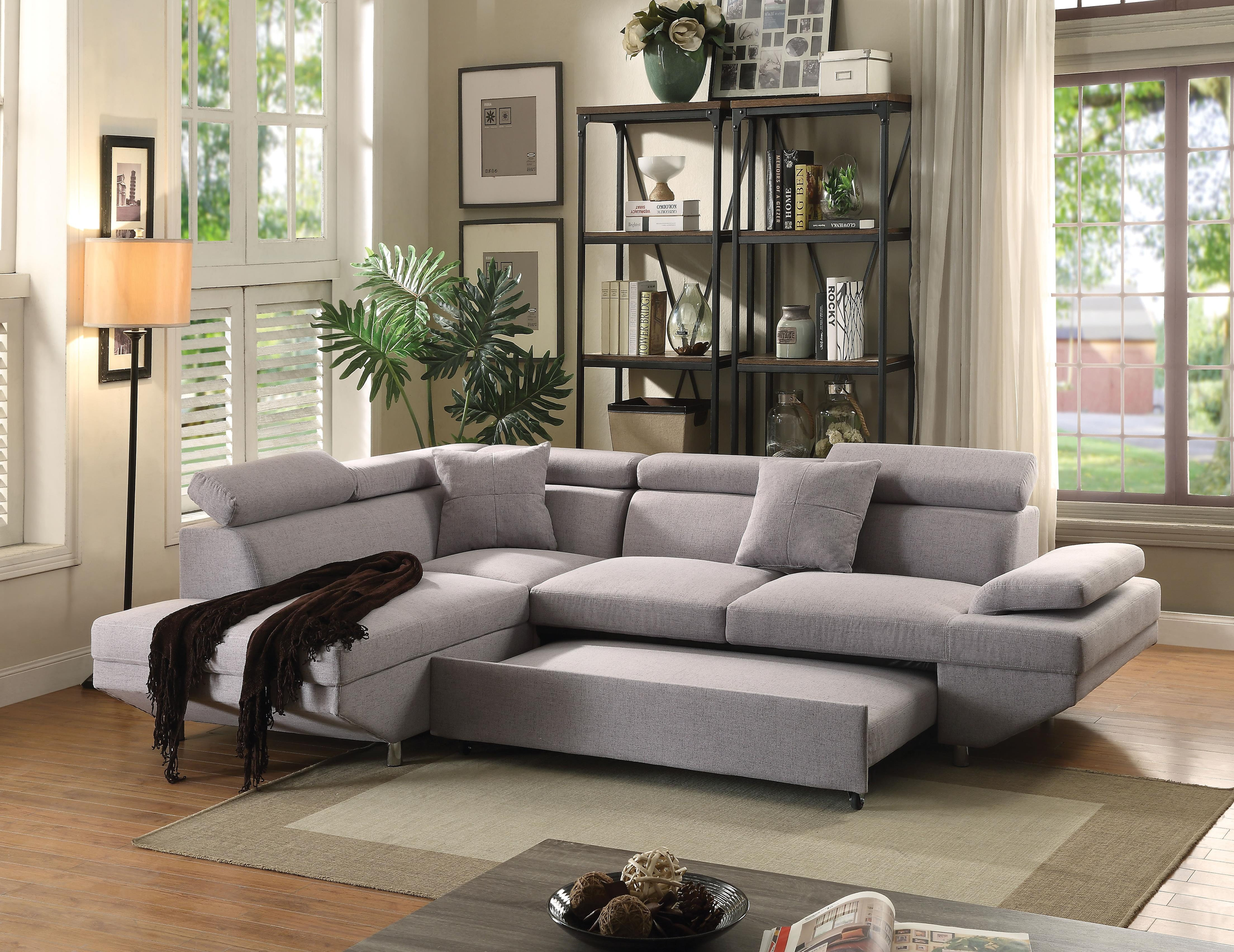 Attrayant Acme Furniture Jemima Sectional Sofa With Sleeper 52990