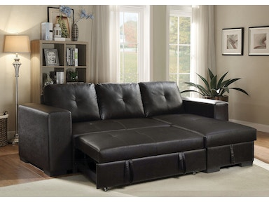 acme furniture living room lloyd sectional sofa with sleeper 53345 simply discount furniture. Black Bedroom Furniture Sets. Home Design Ideas
