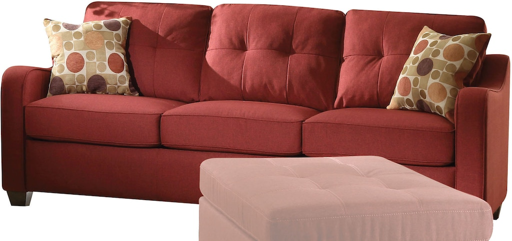 Acme Furniture Living Room Cleavon II Sofa with 2 Pillows 53560 ...
