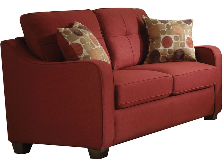 Peachy Acme Furniture Living Room Cleavon Ii Loveseat With 2 Creativecarmelina Interior Chair Design Creativecarmelinacom