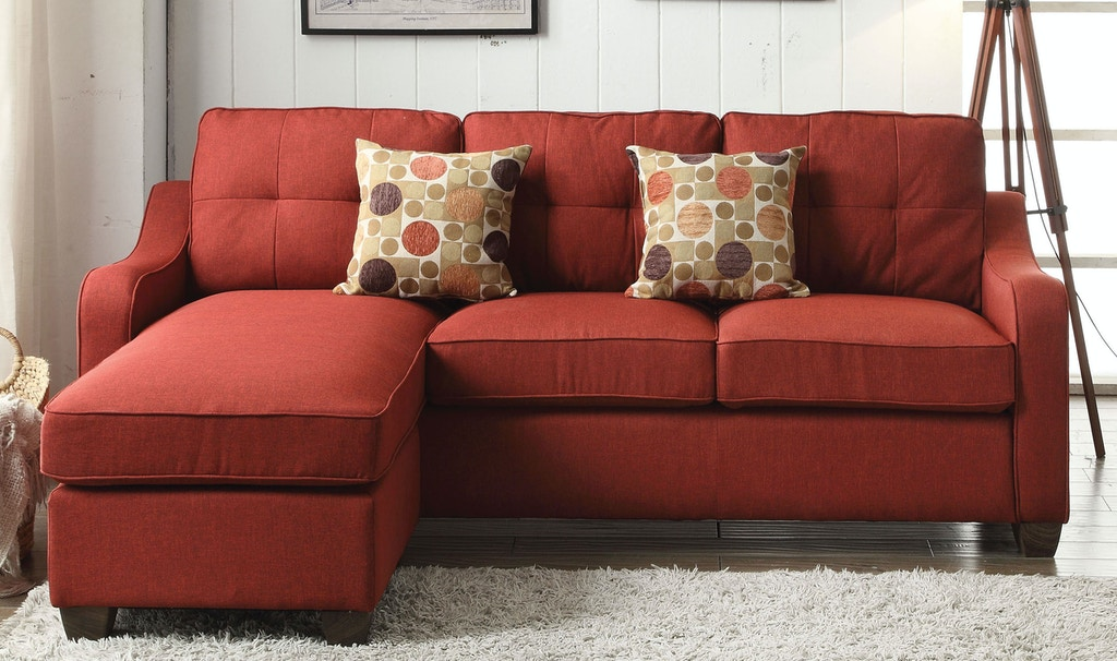 Acme Furniture Living Room Cleavon II Sectional Sofa with 2 Pillows ...
