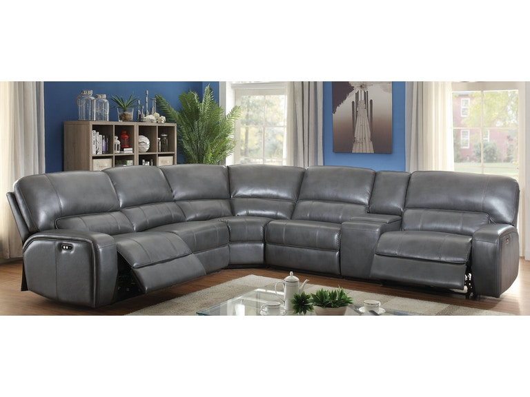 Saul Sectional Sofa (Power Motion)