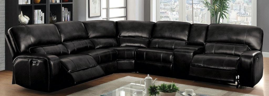 Acme Furniture Living Room Saul Sectional Sofa (Power Motion) 54150 ...