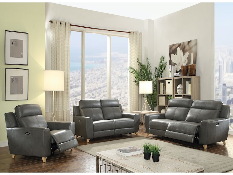 Acme Furniture Living Room Cayden Sofa (Power Motion) 54200 - Simply ...