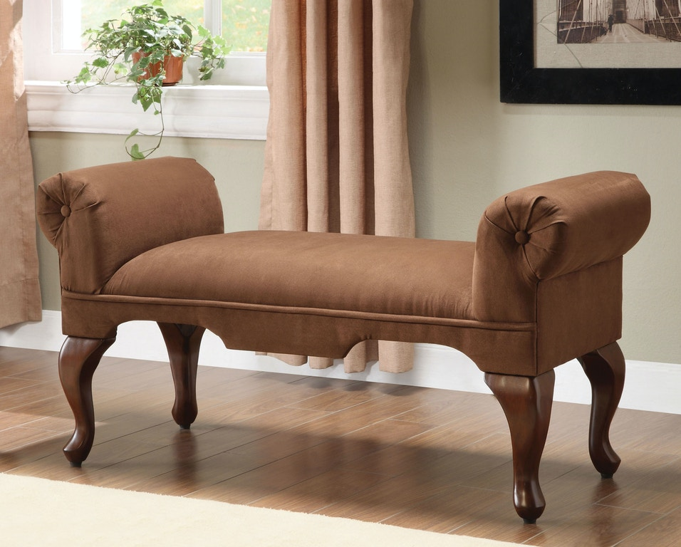 Acme Furniture Living Room Aston Bench With Rolled Arm 05626