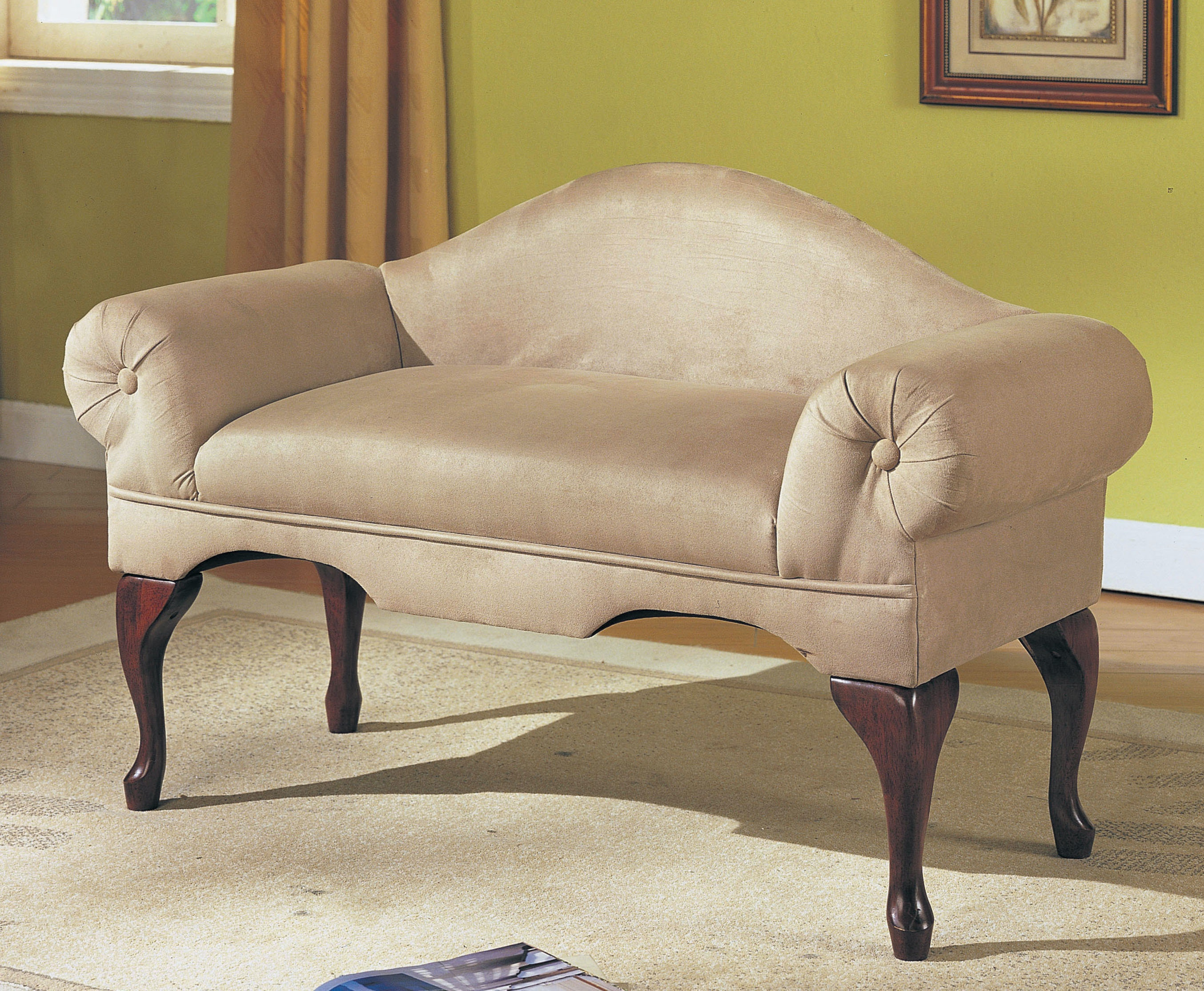 Acme Furniture Aston Bench With Rolled Arm 05630