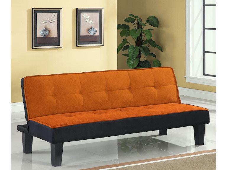 Acme Furniture Living Room Orange Adjustable Sofa 57029 The