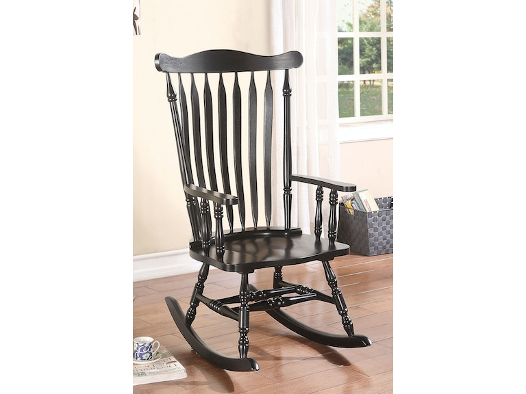 Admirable Black Rocking Chair Gmtry Best Dining Table And Chair Ideas Images Gmtryco