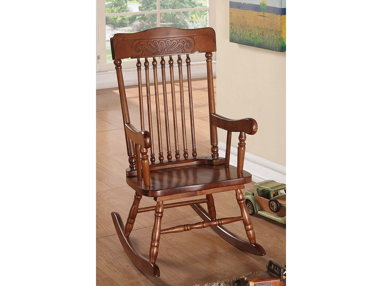 Amazing Tobacco Youth Rocking Chair Gmtry Best Dining Table And Chair Ideas Images Gmtryco