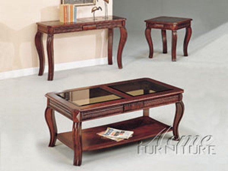 Acme Furniture Living Room 3 Piece Coffee And End Table Set 06152