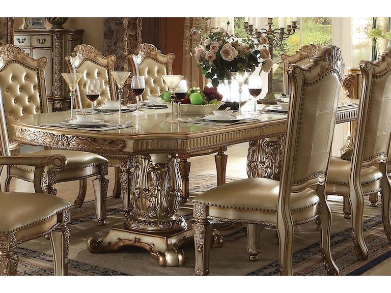 2fb24f8cf2daeb Acme Furniture Dining Room Vendome Dining Table 63000 at Barron's Home  Furnishings