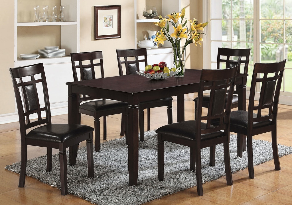 Espresso 7 Piece Dining Set