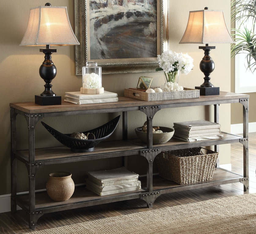 Acme Furniture Living Room Gorden Console Table 72680 The Furniture Mall Duluth And The