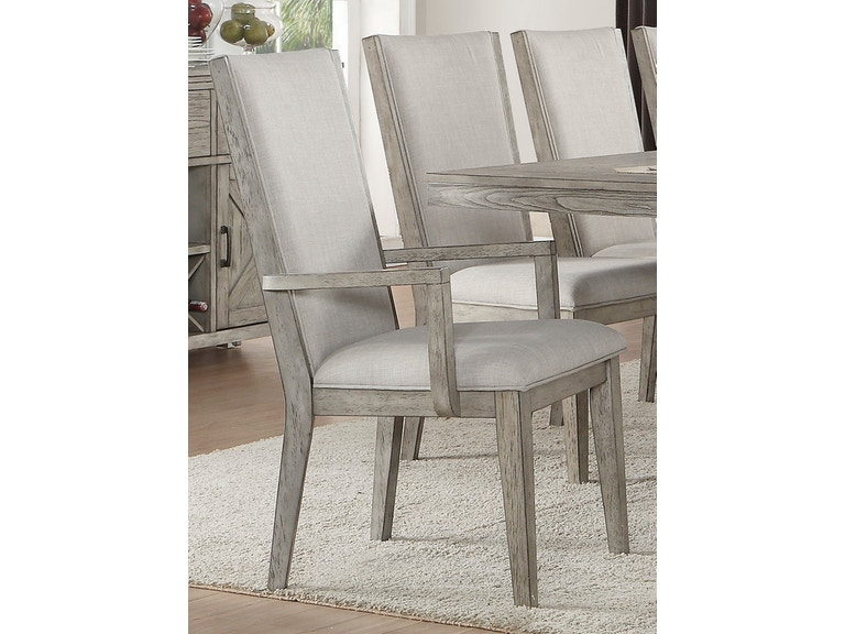 98f0a7644a40 Acme Furniture Dining Room Rocky Arm Chair (Set of 2) 72863 at Gallery  Furniture