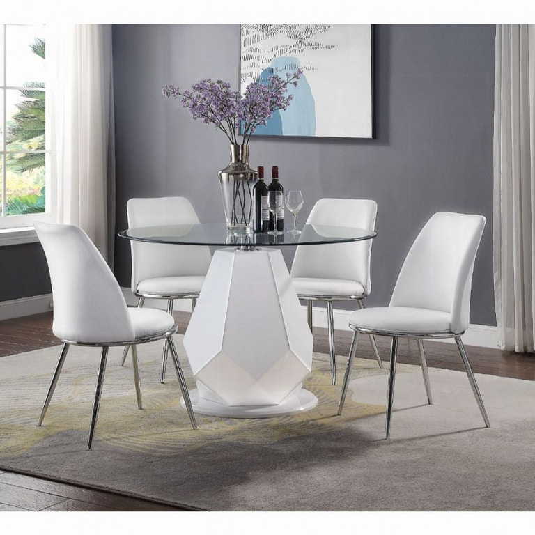 Acme Furniture Dining Room Chara Dining Table 74925 Aaron S Fine Furniture Altamonte Springs