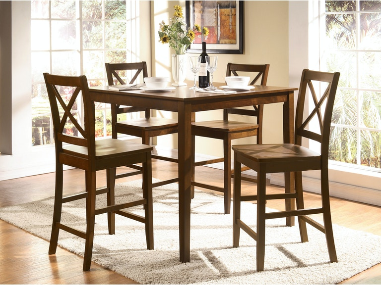 Acme Furniture Dining Room Martha 5 Piece Counter Height Set 07550 At The Mall
