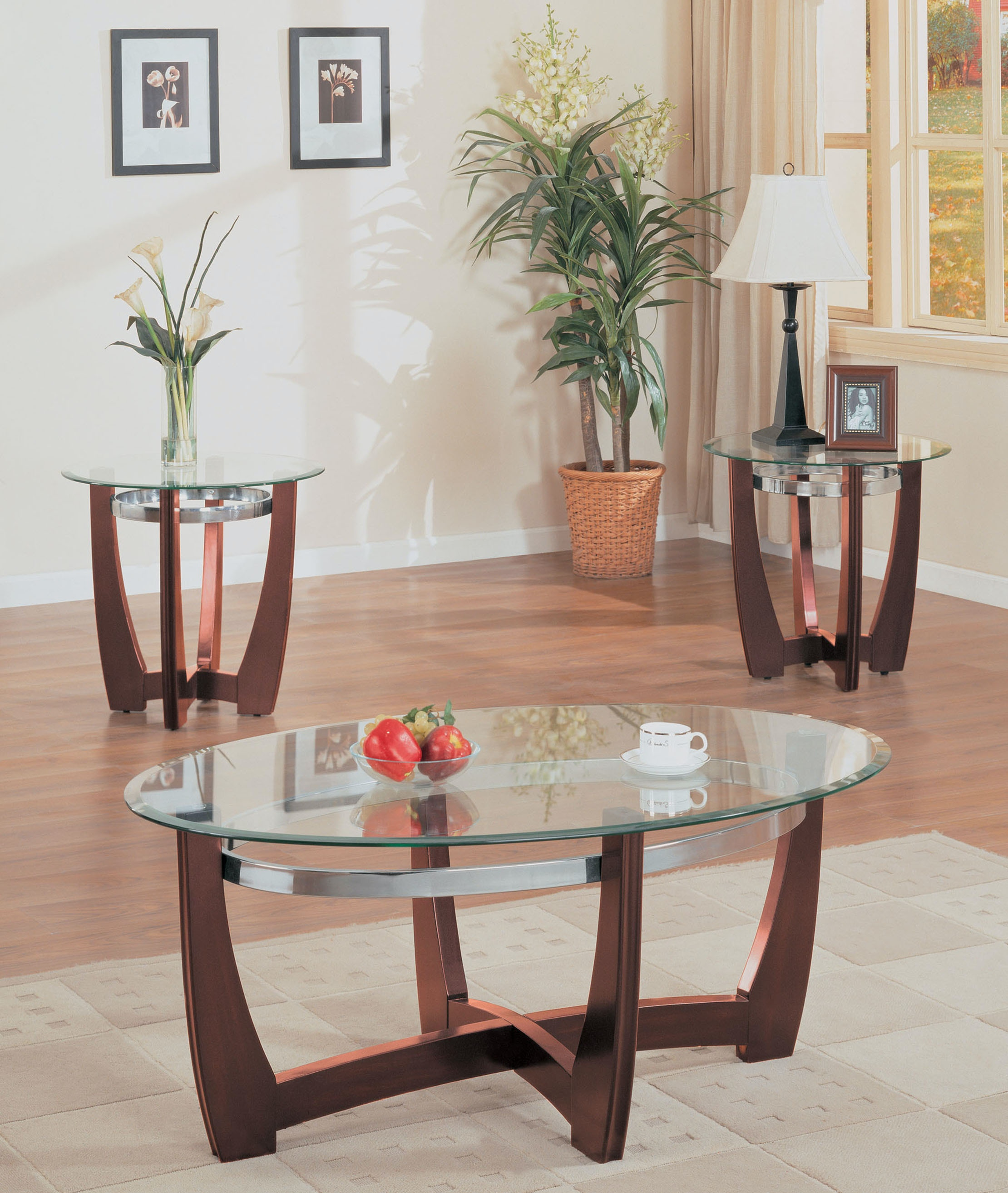 Acme Furniture 3 Piece Coffee And End Table Set 07806