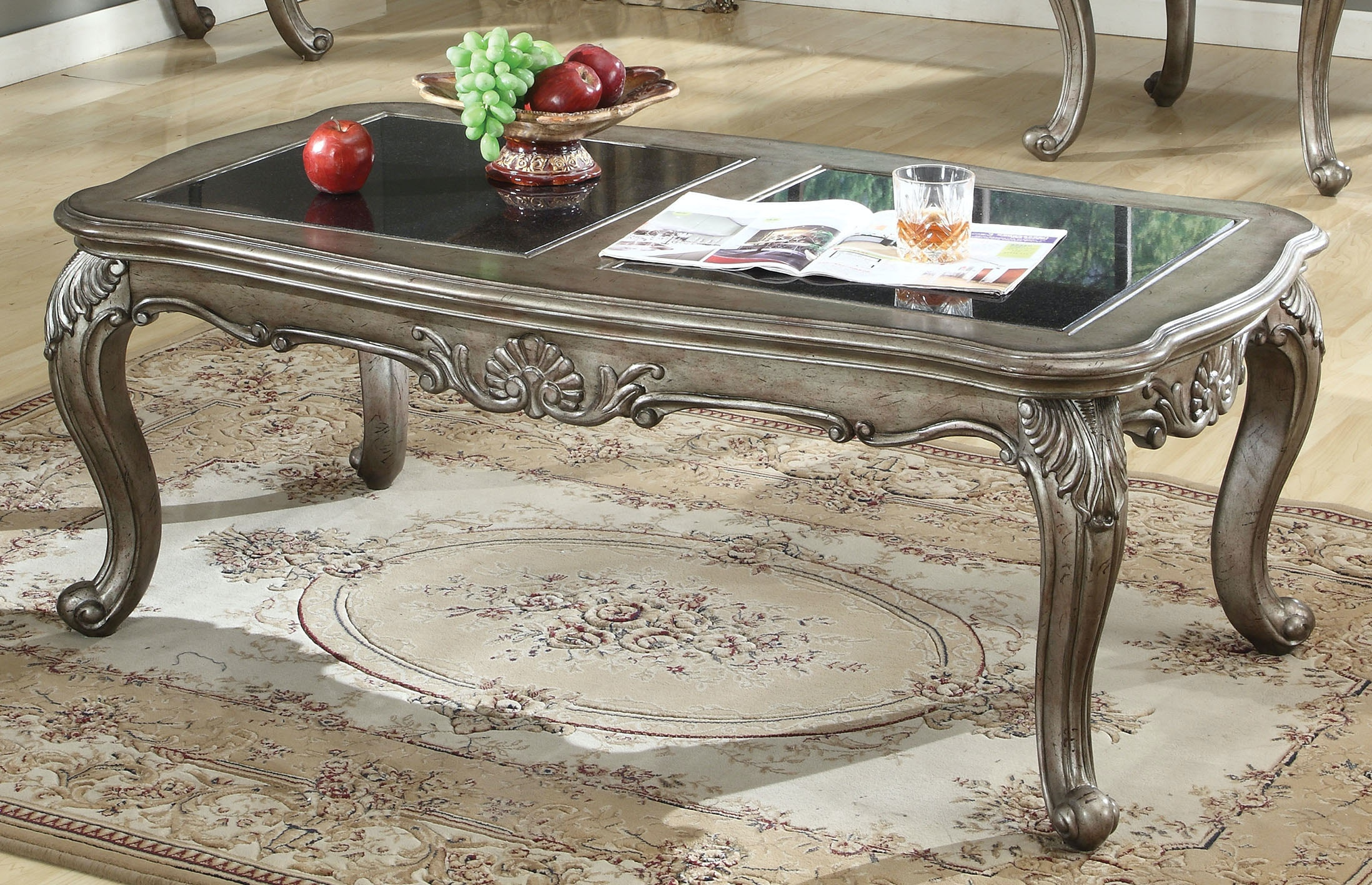 Acme Furniture Chantelle Coffee Table With Granite Top 80540