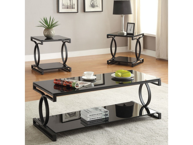 Acme Furniture Living Room 3 Piece Coffee And End Table Set Fulton