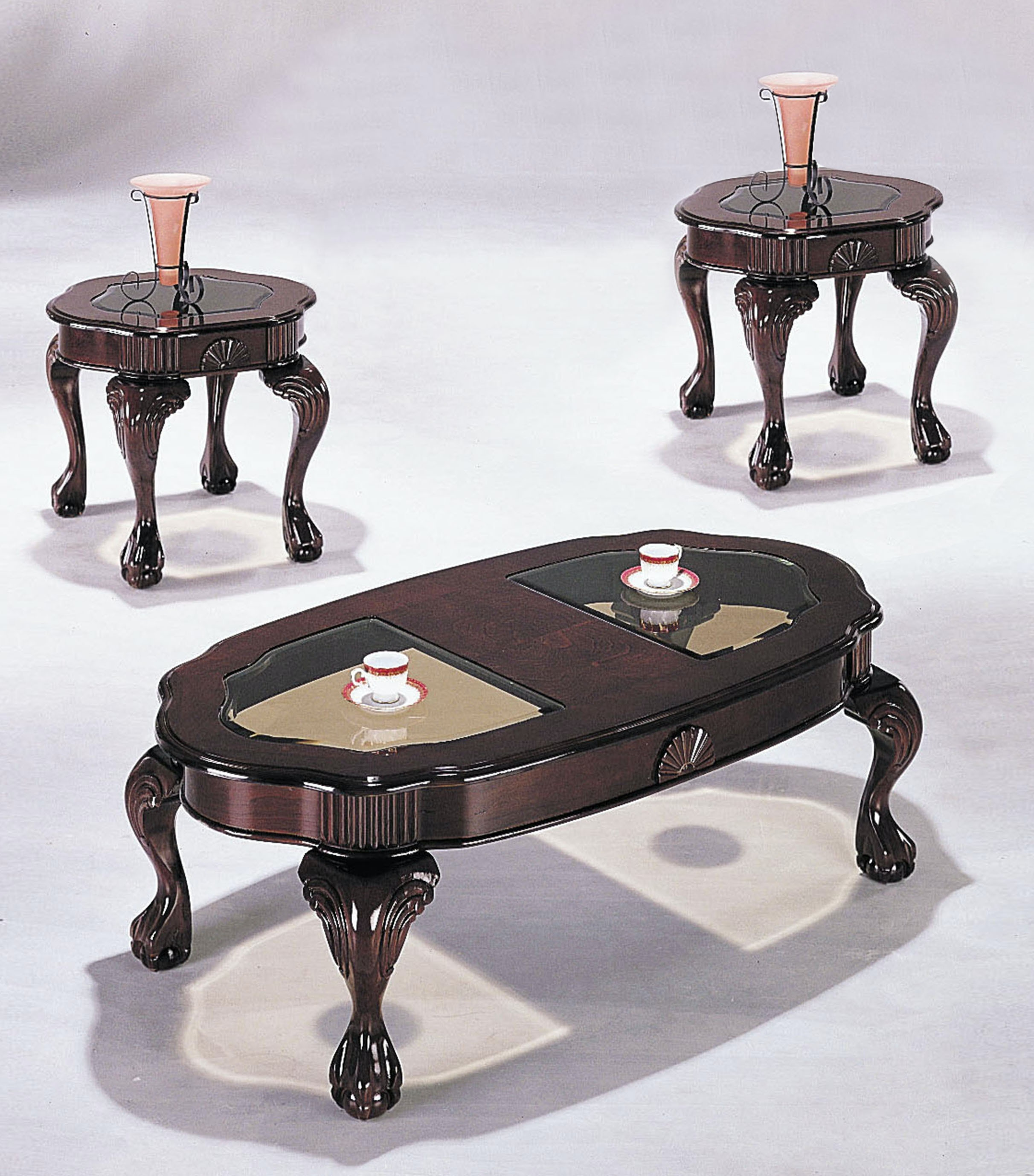 Acme Furniture Living Room 3 Piece Coffee And End Table Set 08195