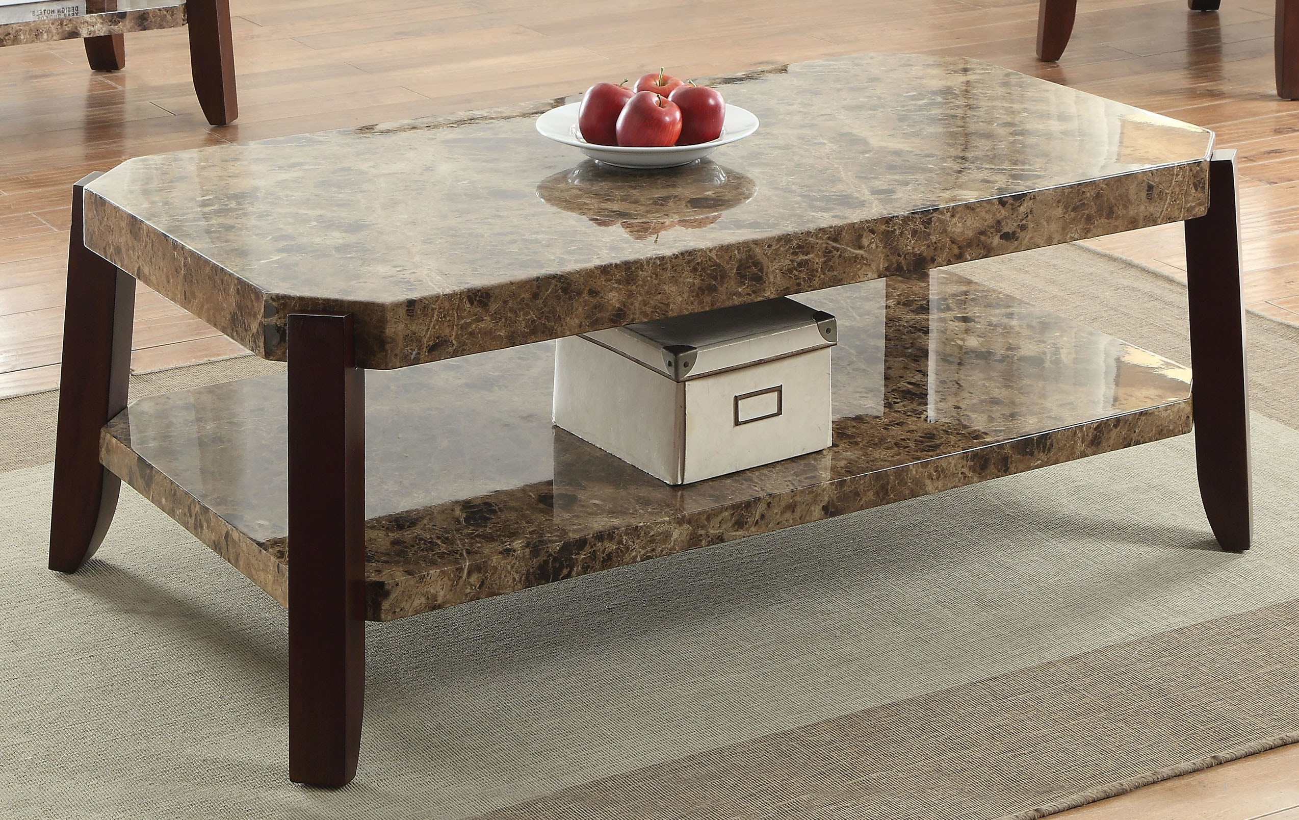 Acme Faux Marble Coffee Table