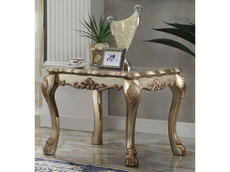 Acme Furniture Living Room Dresden End Table 83161 The Furniture Mall Duluth And The Chamblee