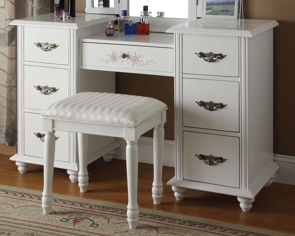 Vanity Desk & Stool (Mirror 90027)