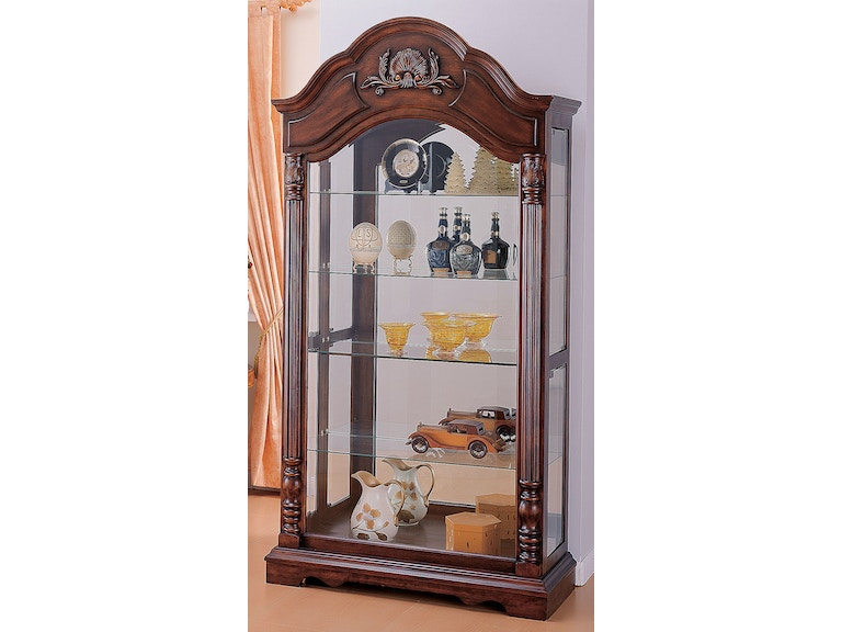 Acme Furniture Cherry Curio Cabinet 90054