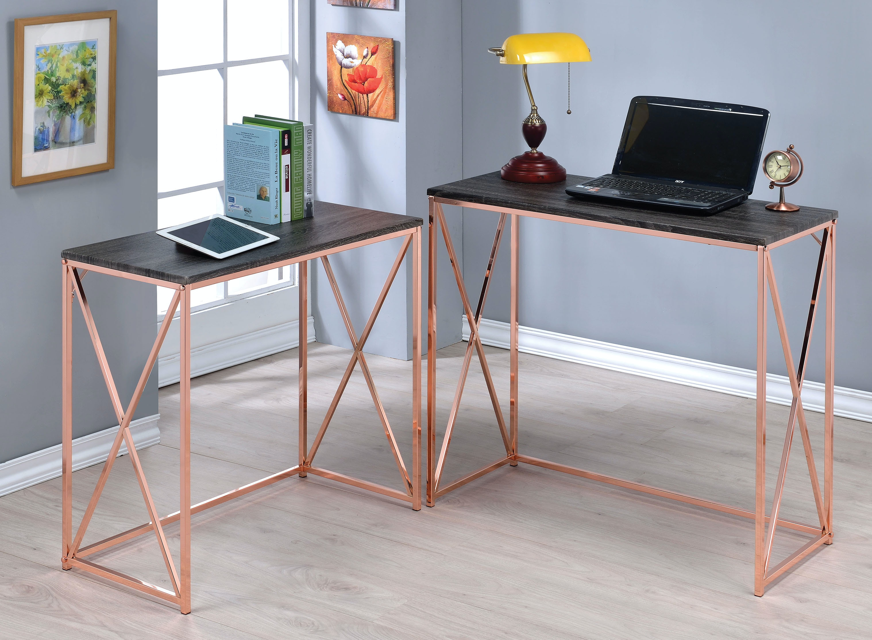 Acme Furniture 2 Piece Nesting Console Table 90225