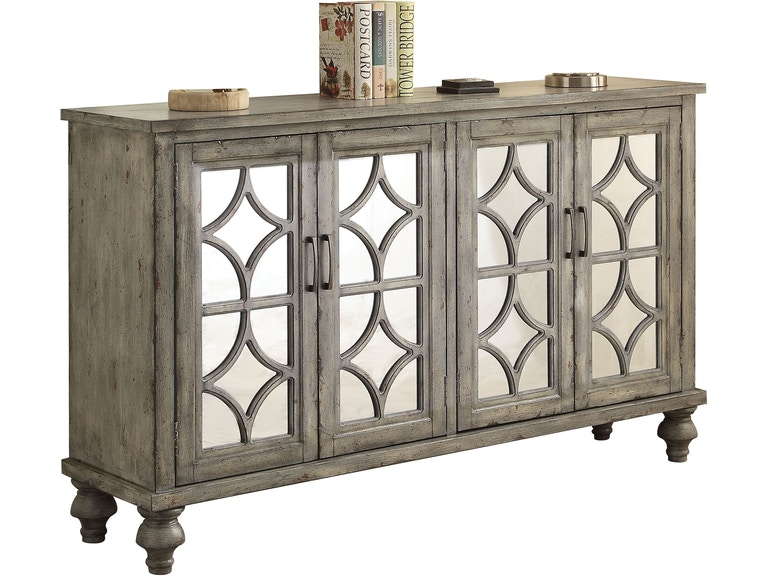 Acme Furniture Console Table 4 Doors 90280