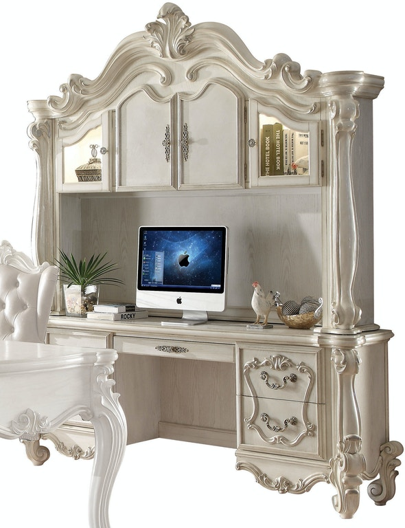 Acme Furniture Home Office Versailles Computer Desk And Hutch 92278 Simply Discount Furniture