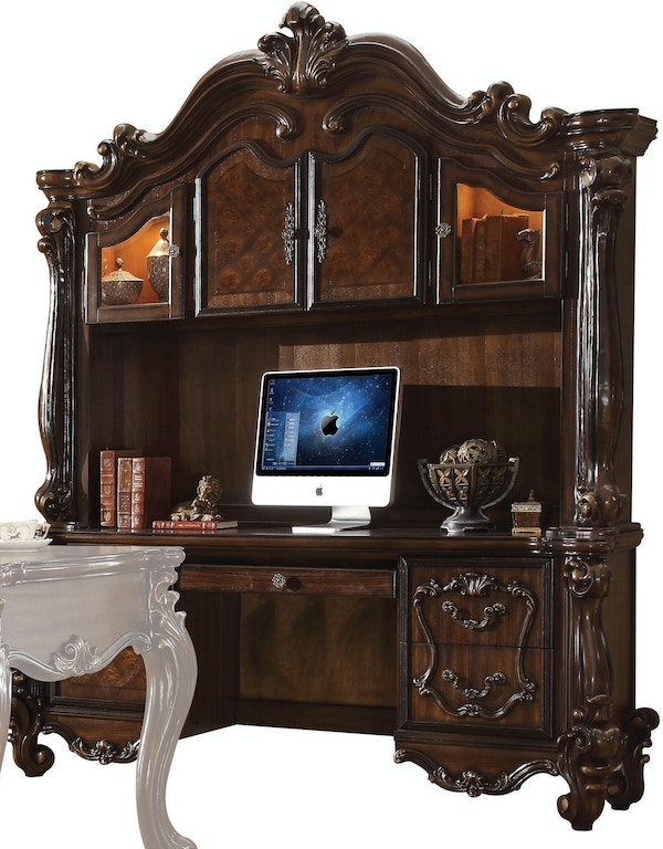 Acme Furniture Home Office Versailles Computer Desk And Hutch 92284 The Furniture Mall Duluth