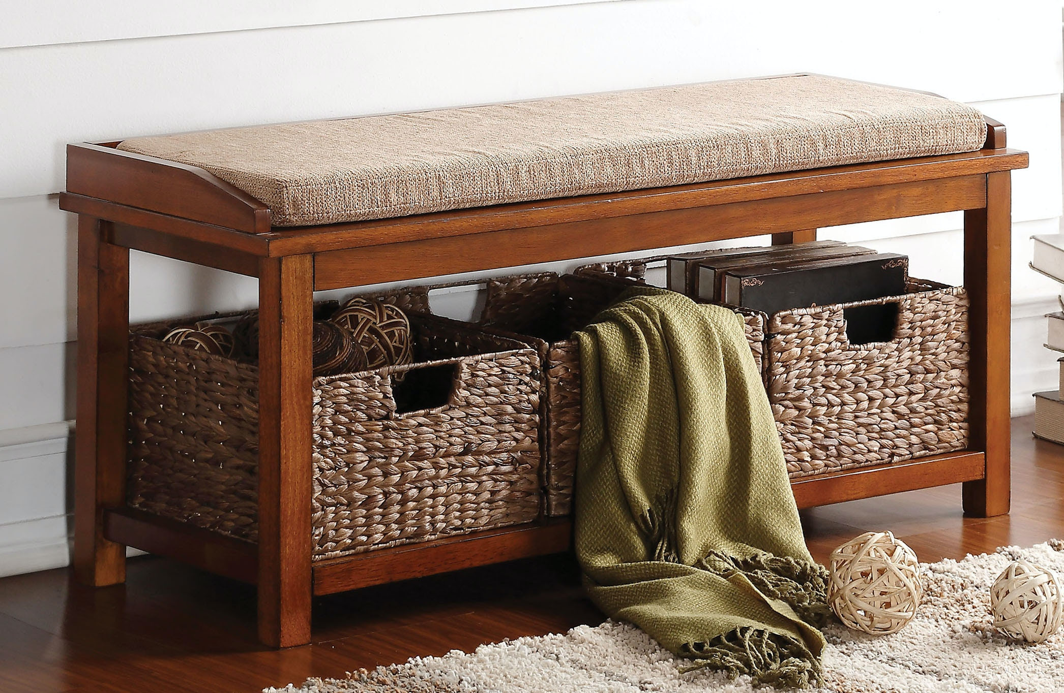 Acme Furniture Bench With Storage 96622