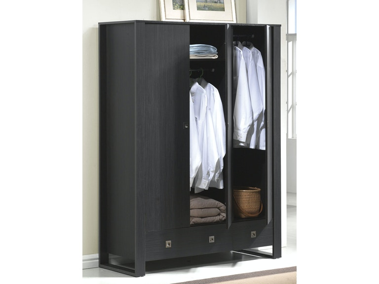Contemporary Bedroom Set London Black By Acme Furniture: Acme Furniture Bedroom Alexis Wardrobe With 2 Drawers