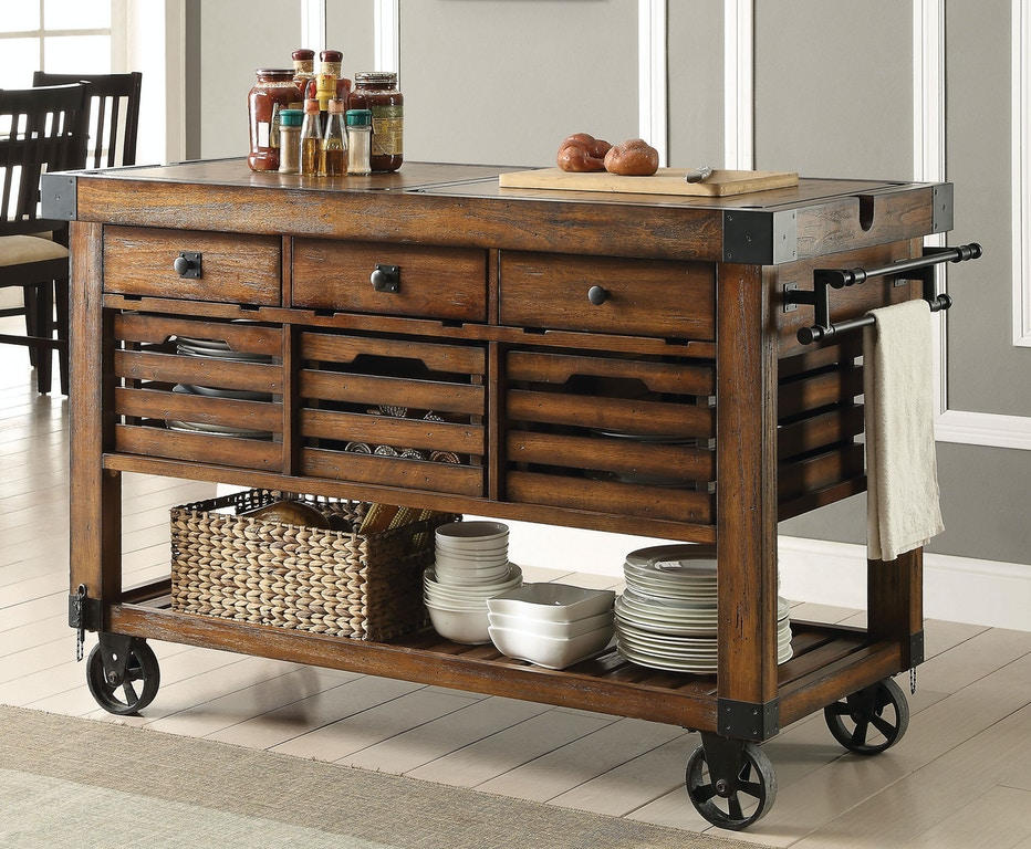 Acme Furniture Kitchen Cart 98184 Hi Desert Furniture