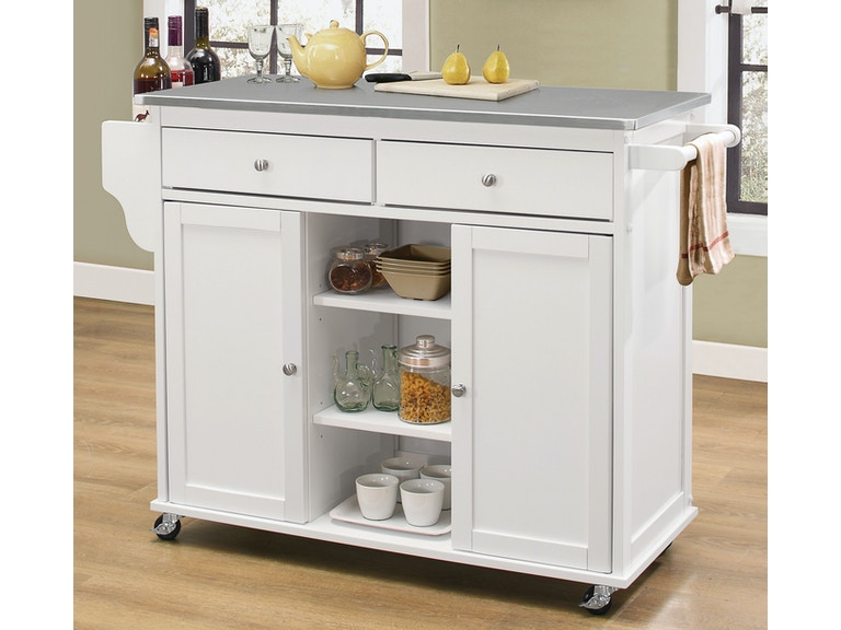 Acme Furniture Kitchen Cart W Stainless Top 98307