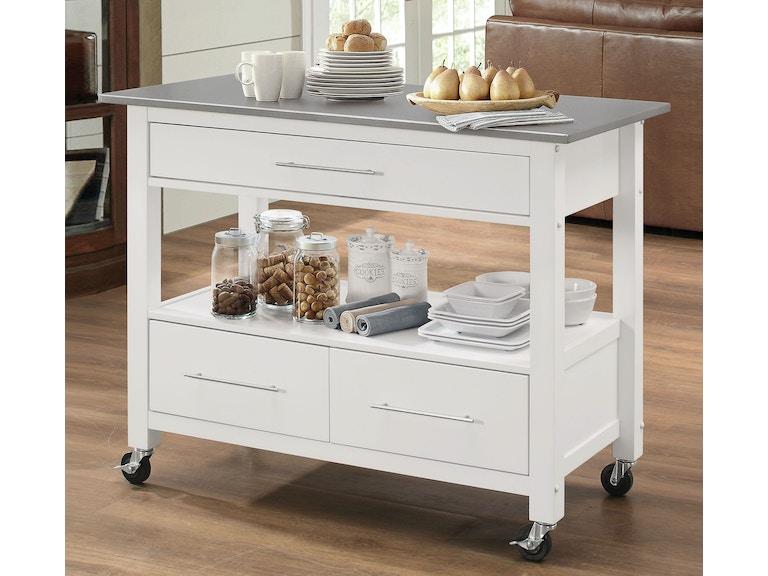 Acme Furniture Ottawa Kitchen Cart 98330 - Furniture Plus Inc ...