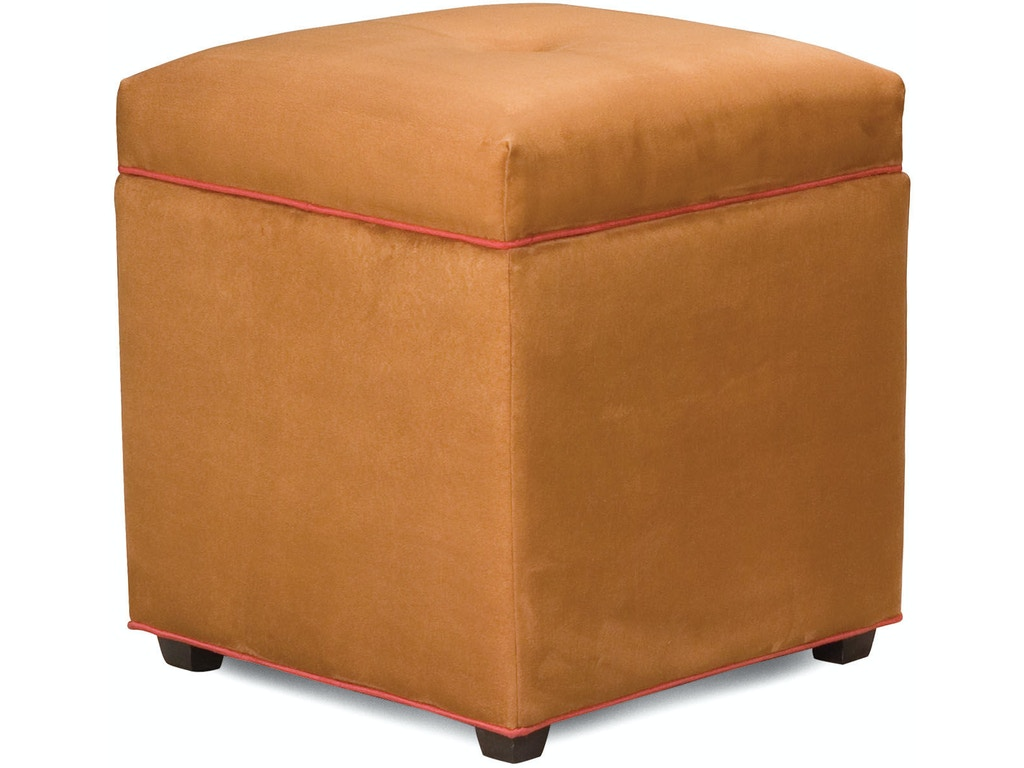 Fairfield chair company living room kaplan storage ottoman for Ottoman storage chair
