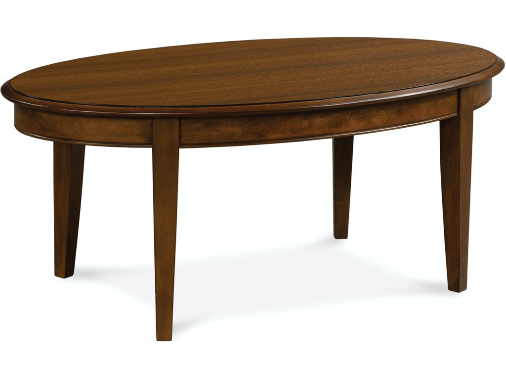 Fairfield Chair Company Living Room Oval Cocktail Table 4173 46 Bostic Sugg Furniture