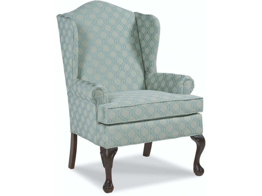 fairfield chair company living room vaughn wing chair 5129 01 kiser furniture abingdon va. Black Bedroom Furniture Sets. Home Design Ideas