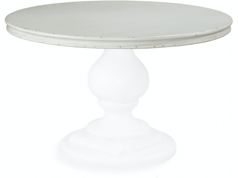 Fairfield Chair Company Dining Room Nottington Cottage Round Table - 48 round white pedestal table