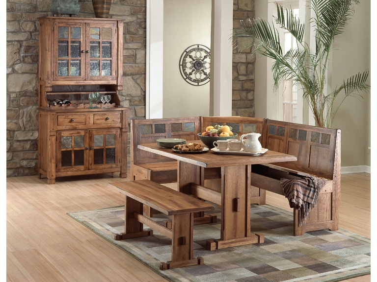 Sunny Designs Sedona Breakfast Nook Set With Side Bench 0219