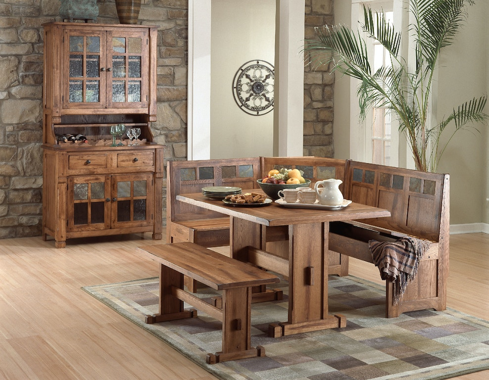 Sunny Designs Dining Room Sedona Breakfast Nook Set With Side Bench 0219ro At Simply